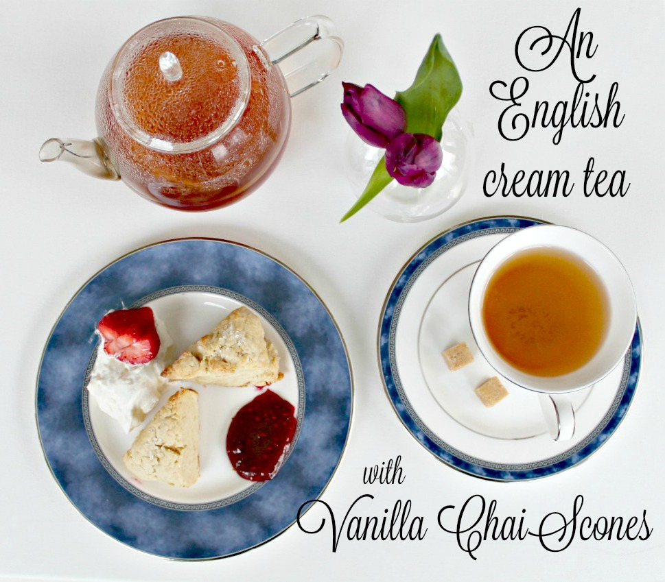 My unique take on a traditional English cream tea with the flavors of Vanilla Chai www.thedailyadventuresofme.com