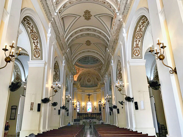 The interior of the Cathedral of St. John the Baptist in Old San Juan, Puerto Rico