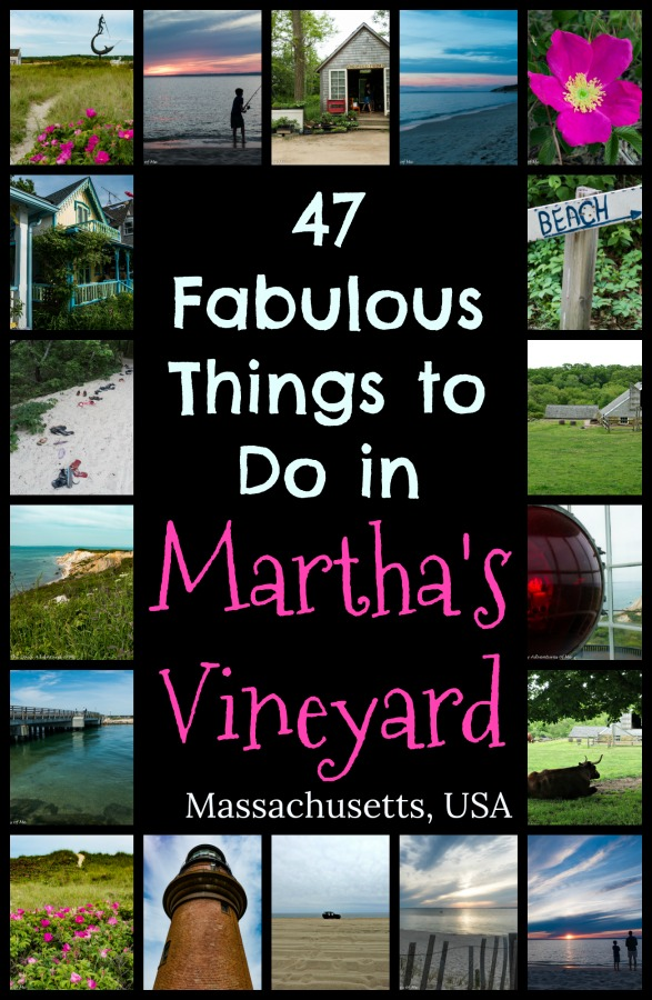 There are so many great things to to on Martha's Vineyard, an island off the coast of Massachusetts whether you are going for a week or taking a day trip from Boston or Cape Cod. Read on for ideas on how to spend your time on the island. #VisitNewEngland #VisitMV #Martha'sVineyard #Massachusetts #TBIN #c2c