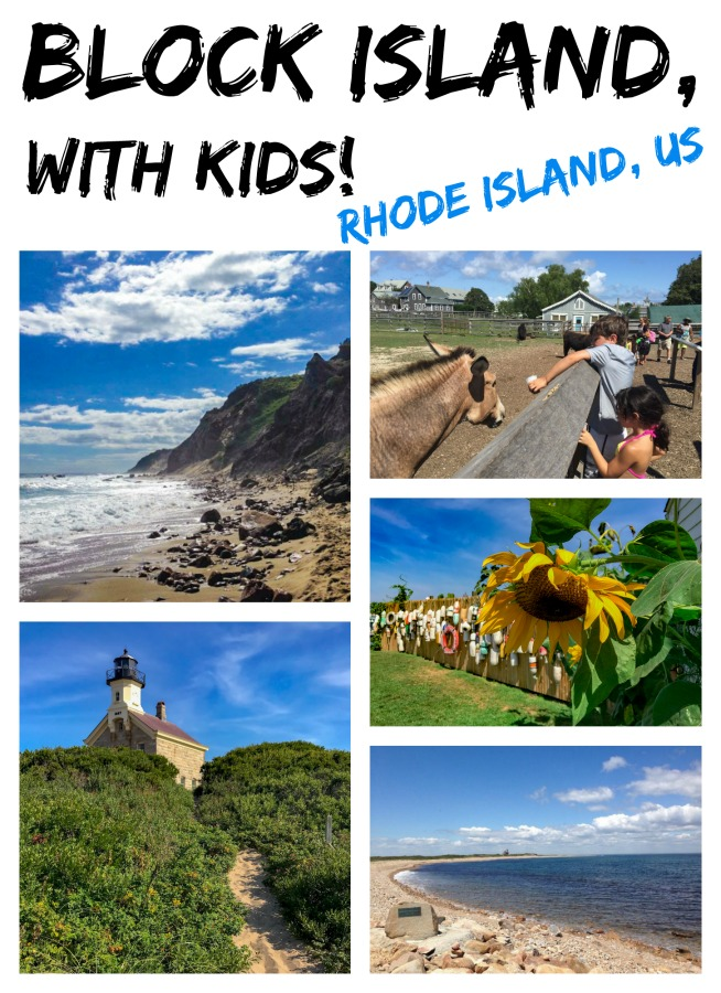 Block Island is a convenient day trip from Rhode Island with kids. Read on for more details. #familytravels #NewEnglandwithkids #RhodeIslandwithkids