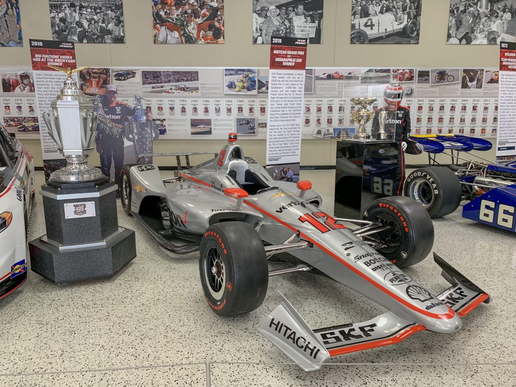 Cars at the Indianapolis Motor Speedway Museum.